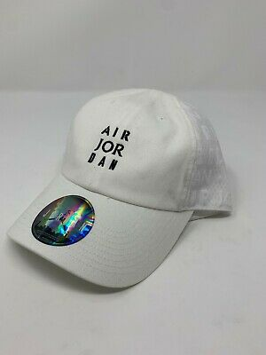 baa7031cc1f2 Nike Air Jordan Strapback Hat AO2870-100 White Retro Adjustable Cap NEW
