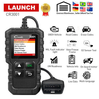 Valise Diagnostique Autonome Multimarque OBD2 EOBD LAUNCH CR3001 Voitures Car