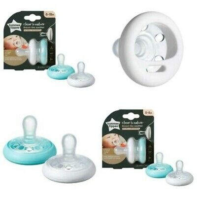 Tommee Tippee Breast Like Soothers Naturally ORTHODONTIC  0 - 6 Months / 6-18
