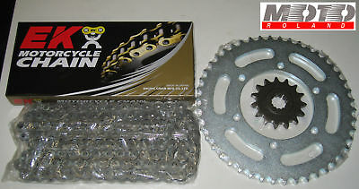 Kit Trasmissione Catena Ek Ducati 749 999 R S Dark '02-'06 520 O-Ring Ek Pbr New