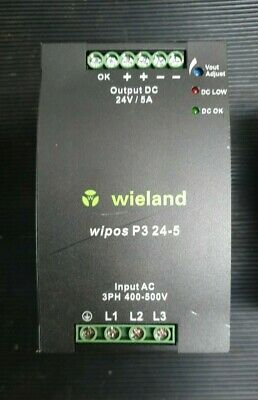 WEIDLAND WIPOS P3 24-5 81.000.6160.0 switching power supply (IN27S2)
