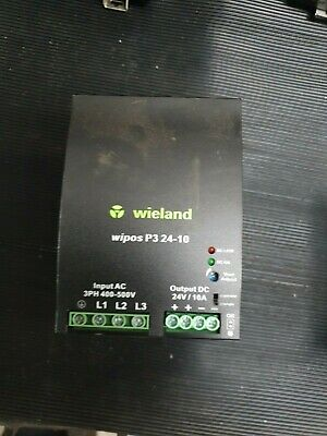 Weidland Wipos P3 24-10 81.000.6170.0 Switching Power Supply (In27S2)
