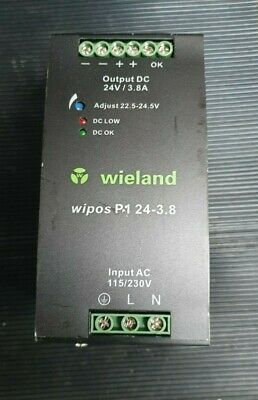 Weidland Wipos P1 24-3.8 81.000.6135.0 Switching Power Supply (In27S2)