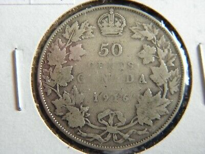 1916 Canada Sterling Silver 50 Cent Piece-George V-19-233