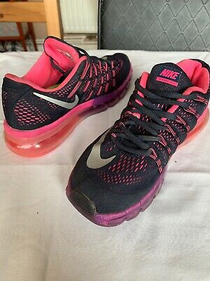 big sale 4d328 c9d4a Women Nike Air Max 2016 Trainers Purple Pink UK SIZE 4 USED