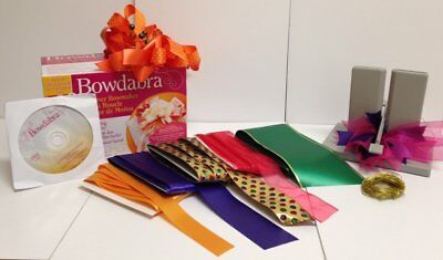 Bowdabra Bow Maker Tool with free start up CHRISTMAS style ribbon! Free UK Post!