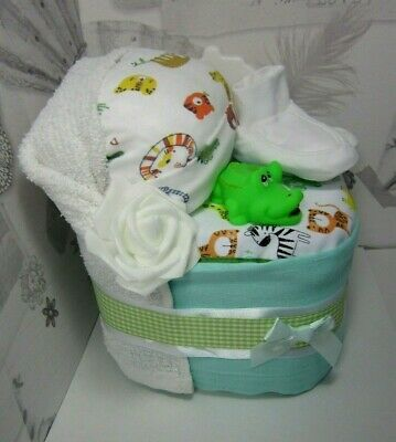 Nappy Cake Crib 🐊Maternity Leave🐊 New Born Baby Shower gift🎁