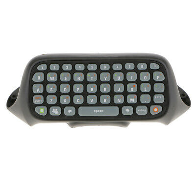 Black Wireles Chatpad Controller Attachment Keyboard for Microsoft Xbox 360