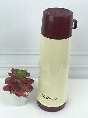 RARE Retro Vintage TIM HORTONS- Thermos Made In Canada Hot/Cold 32 Ounces/4 Cups