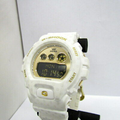 0576fd8c992 CASIO G-SHOCK SUPRA Digital Dial White Resin Quartz Men's Watch ...