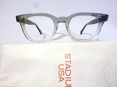 Vintage American Optical HYBRID* Stadium Grey 46/20 Men's Plastic Eyeglass Frame