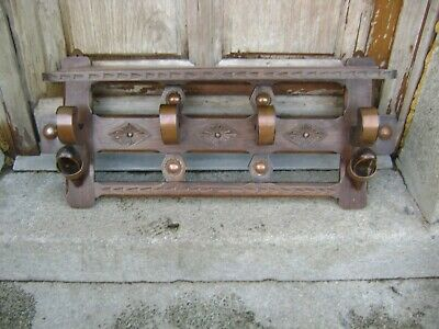 Vintage French coat hooks/rack chunky  copper decoration breton clog