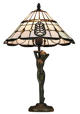 Tiffany Glass Handmade Contemporary Sculptured Table Lamps 14'' - Bedside Lamps