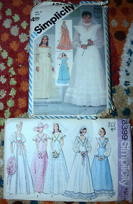 "1970's 80's Wedding Dress Prom Gown Sewing Patterns Womens 14 - 36"" Bust U-Pick"