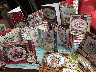 Christmas Toppers For Card Making.Kanban Decadent Christmas Card Making Kit 6 A4 Toppers Card Half Price