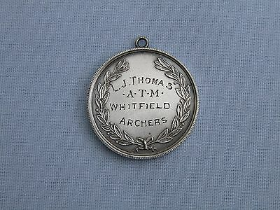 James Fenton 1952 Solid Silver Archery Fob Medal- Lcaa - Whitfield Archers