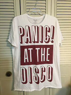 15a6fff0e Panic! at the Disco White Pocket T-Shirt Sz Large PATD Manhead Official  Product
