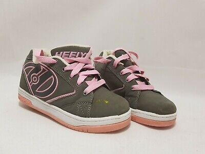 Girls Pink and grey  Heelys Size UK 1