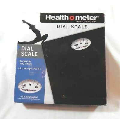 NEW Health O Meter Dial Scale, Black Up to 300 lbs The Doctor's Scale NIB