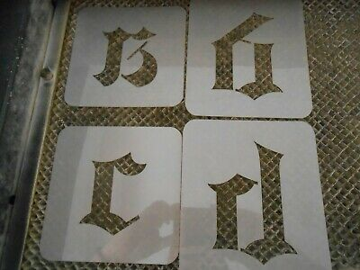 Old English Lowercase 3 inch stencil set!