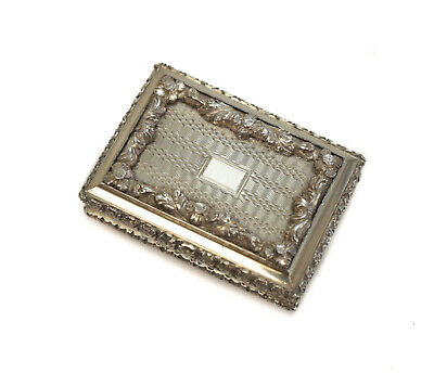 Nathaniel Mills Birmingham Sterling Silver Vinaigrette,  1836. With Leather Case