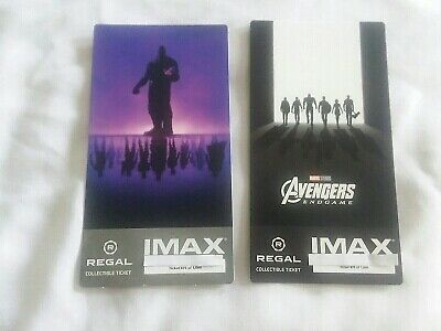 Avengers Endgame Collectible Week 1 & 2 Regal IMAX Ticket  #875 of 1000 Same #'s