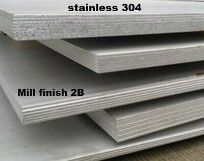 STAINLESS STEEL 304 PLATE - 0.5mm upto 4mm thick -  wide range of sizes