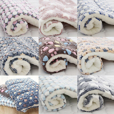 Dog Cat Puppy Pet Plush Blanket Mat Warm Sleeping Soft Bed Blankets Supply Soft