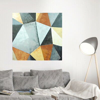 Abstract Rhombus Hand Painted Art Canvas Oil Painting Modern Home Decor Framed