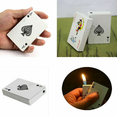 Playing Cards Normal Flame Refillable Butane Gas Cigar Cigarette Lighter