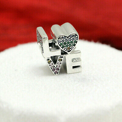 caa40f35b Authentic Pandora Silver Multi-Color CZ Love Charm 797189NRPMX Mom Mothers  Day