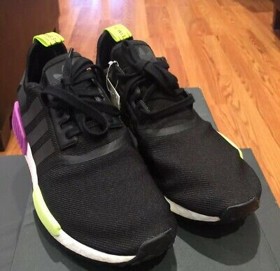 outlet store 6a42b 03f73 Brand New Adidas NMD R1 Black Purple Solar Yellow Sz 9.5 D96627