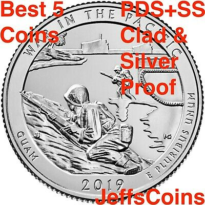 2019 PDSSS War In The Pacific Guam Park Quarter Clad &.99 Silver Proof P D S S S