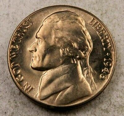 1946-P Jefferson Nickel Gem BU Uncirculated Full Step Full Steps