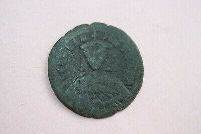 ANCIENT BYZANTINE LEO VI FOLLIS COIN of  9th CENTURY AD