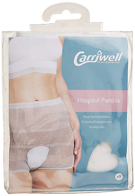 Hospital Panties pack of 5 size uk 10-16
