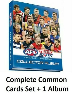 2019 Afl Teamcoach Complete Full Common Base Set 234 Cards + Album Team Coach