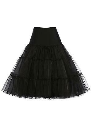Women Fashion Vintage Style Tutu Mesh Tulle Mermaid Midi Skirt Wedding RLWH 02