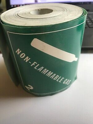 NON-FLAMMABLE GAS 2 4 X 4 inch Adhesive Stickers