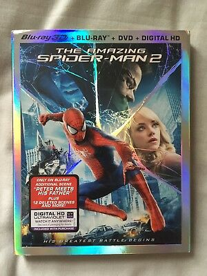 The Amazing Spider-man 2 3D US Import Blu Ray & DVD 3 Disc Set