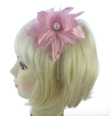 Fascinator dusky pink  flower ,headband  Weddings, Races, Ladies Day