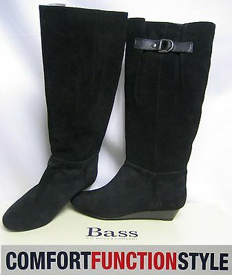 $129 BASS Suede Leather Knee High Boots 7M Shoes Winter Comfy Women Youth Gift