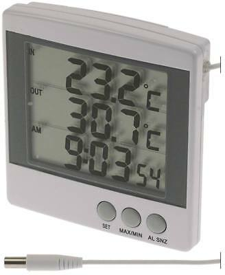 Thermometer Display Digital with Battery, Min/Max Memory Function, Alarm/