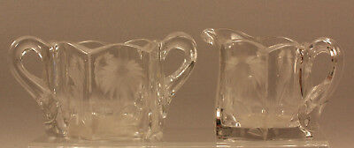 Vintage Pressed/Cut Glass Palmetto Pattern Sugar-Creamer