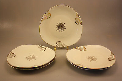 Group Of 5 German Mid-Century Modern Porcelain Plates By D&Rw Bavaria