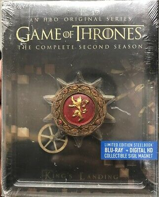 Game of Thrones, 2nd Season,  steelbook, BR+DIGITAL HD,  LIMITED EDITION