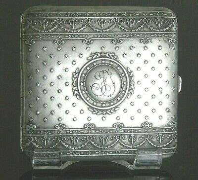 Superb Antique French Solid Silver Cigarette Case