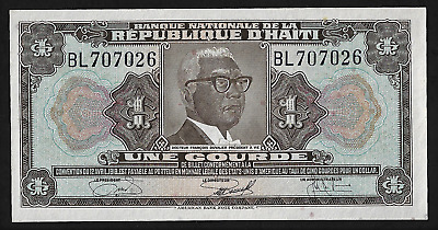 Coins & Paper Money Haiti One Gourdes L.1919 P190s Specimen Perforated Uncirculated