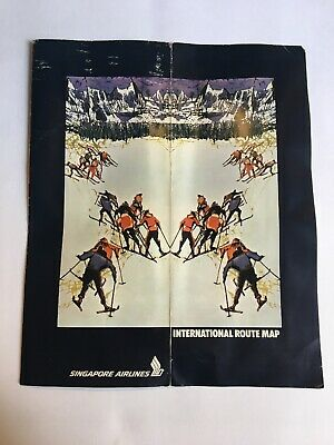 VINTAGE - SINGAPORE Airlines - International Route Map - Poster ...