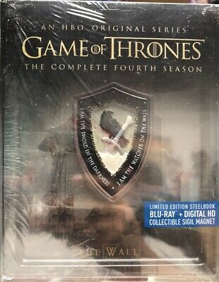 Game of Thrones The Complete Fourth Season GOT Steelbook Blu-Ray + Digital HD